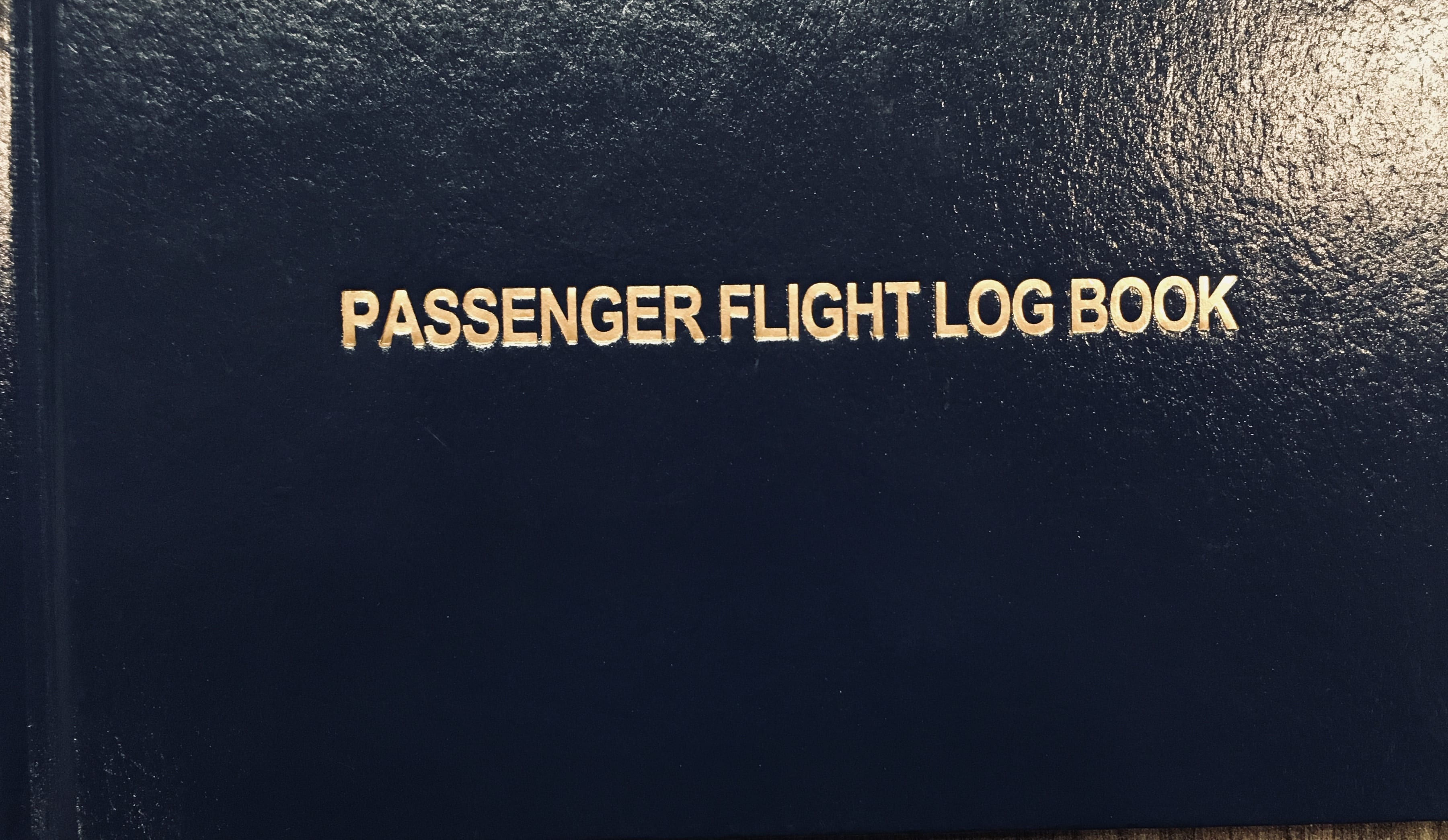 Passenger Flight Log Book