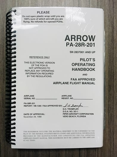 Arrow Pilot's Operating Handbook