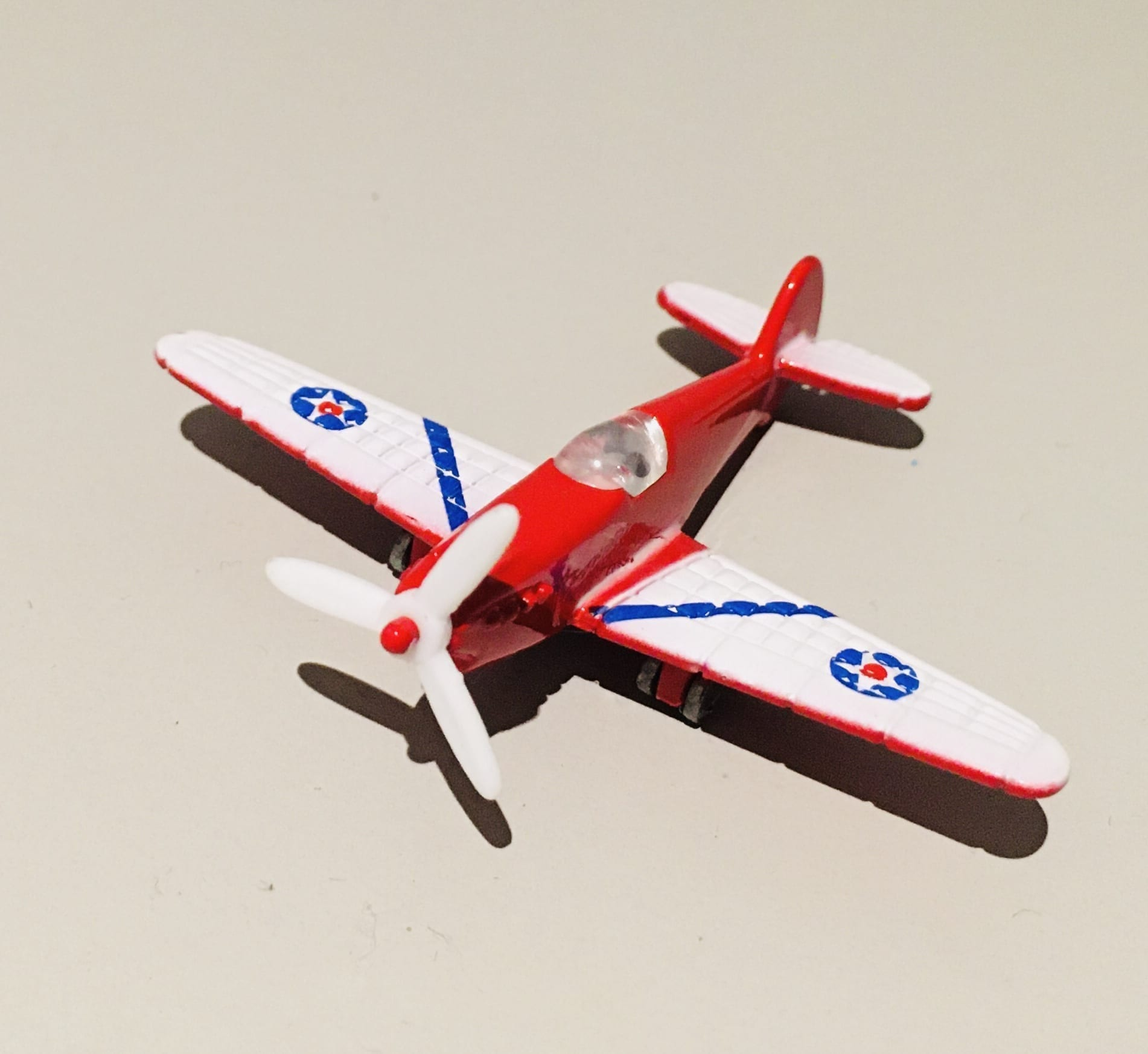 Mini Toy Plane Red and White